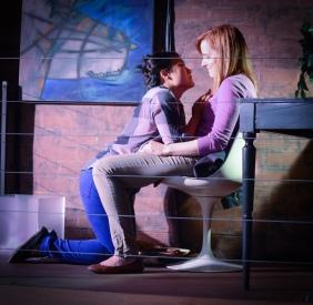 Frankenstein Upstairs featuring Diana Oh and Autumn Dornfeld - Photo credit Deborah Alexander