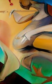 """Moon #2 Painting: """"The Fool"""" by Larissa Tokmakova"""