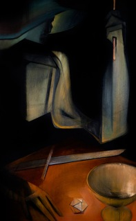 "Moon #3 Painting: ""The Magician"" by Larissa Tokmakova"