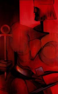 "Moon #7 Painting: ""The Emperor"" by Larissa Tokmakova"