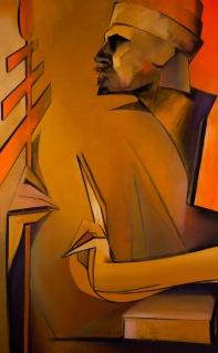 "Moon #9 Painting: ""The Hierophant"" by Larissa Tokmakova"