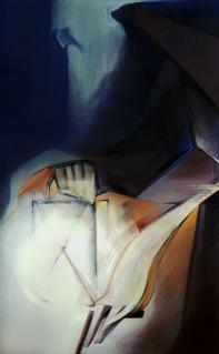 """Moon #14 Painting: """"The Hermit"""" by Larissa Tokmakova"""