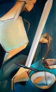 "Moon #16 Painting: ""Justice"" by Larissa Tokmakova"