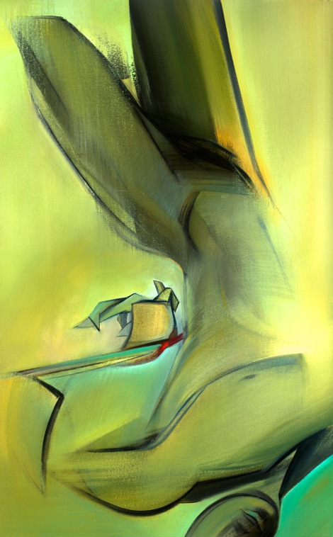 "Moon #18 Painting: ""The Hanged Man"" by Larissa Tokmakova"