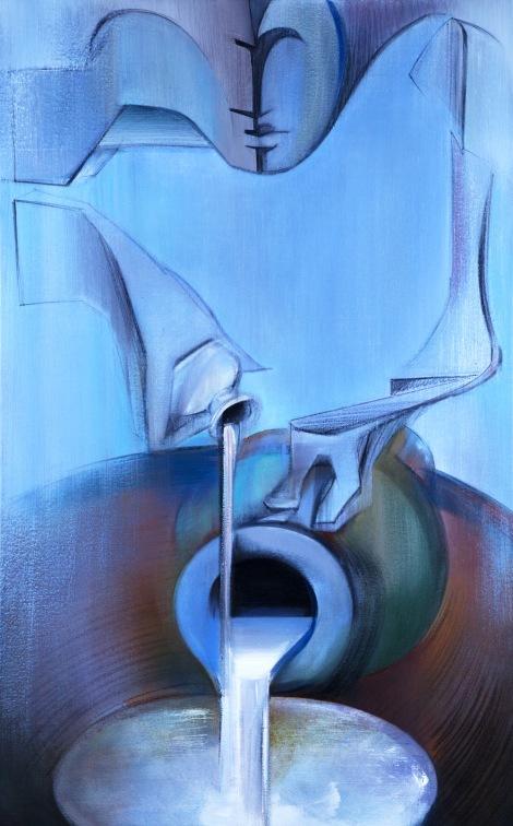 """Moon #20 Painting: """"Temperance"""" by Larissa Tokmakova"""