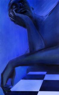 "Moon #21 Painting: ""The Devil"" by Larissa Tokmakova"