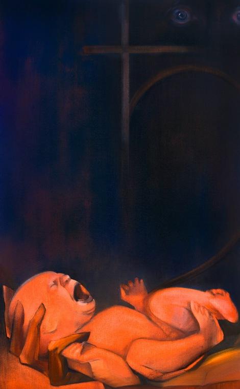"""Moon #23 Painting: """"Saturn"""" by Larissa Tokmakova"""