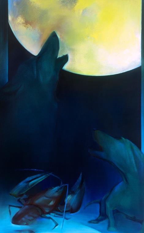 """Moon #25 Painting: """"The Moon"""" by Larissa Tokmakova"""