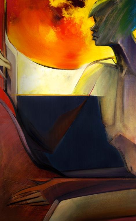 """Moon #26 Painting: """"The Sun"""" by Larissa Tokmakova"""