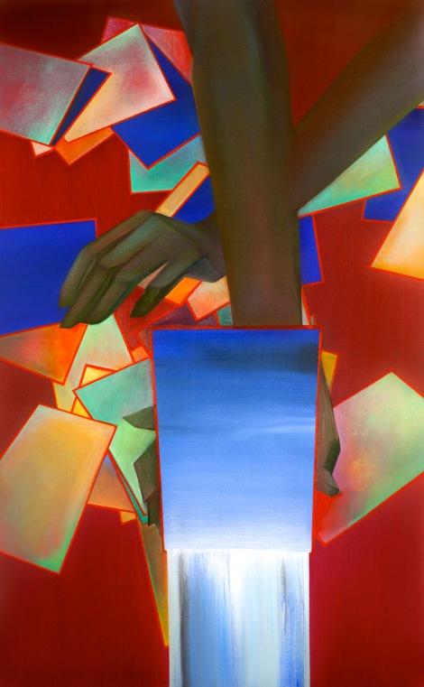 "Moon #29 Painting: ""Last Call"" by Larissa Tokmakova"